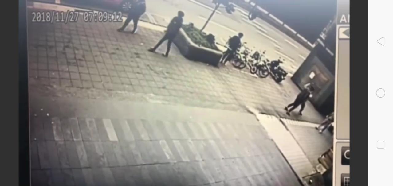 台北市清晨發生槍響。記者廖炳棋/翻攝