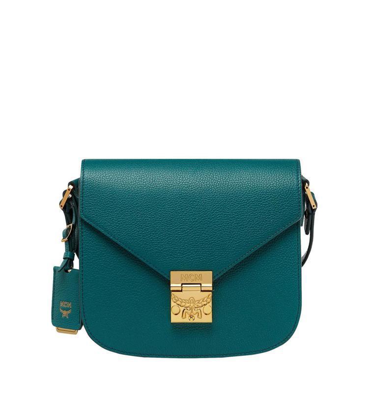 Patricia綠色肩背包,售價31,000元。圖/MCM提供