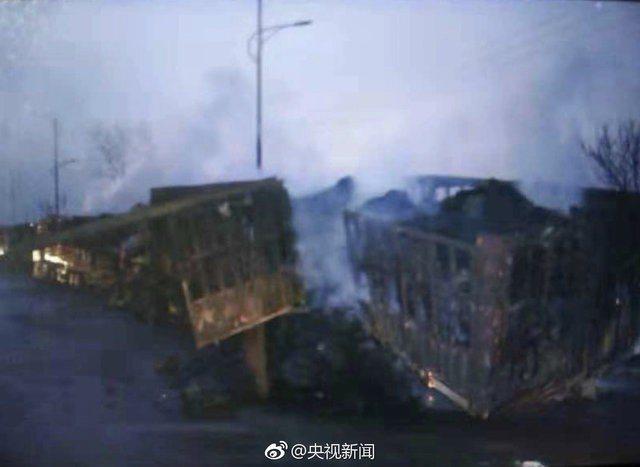 河北盛華化工今(28)日凌晨發生爆炸工安意外,目前已致22人死亡。圖擷自央視新聞