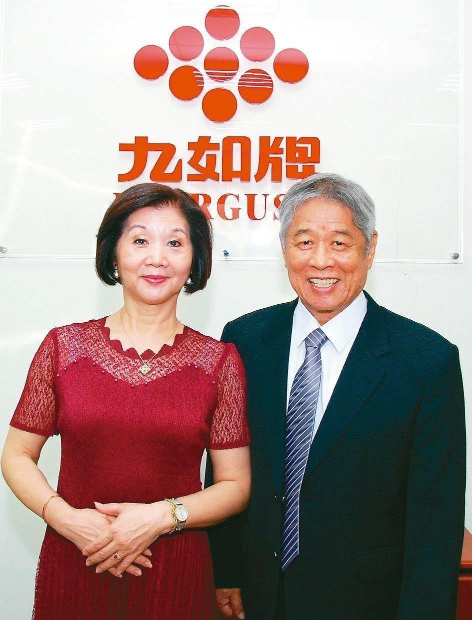 經濟實業董事長陳光隆與夫人合影。 楊鎮州/攝影