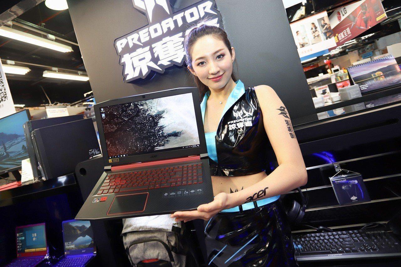 投身電競市場的供應商變多,電競筆電面板市場前景可期。 彭子豪/攝影