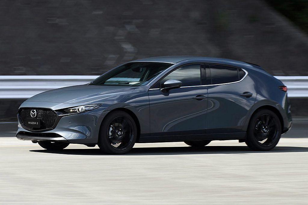 Mazda汽車今年壓軸重頭戲全新第四代Mazda3,在正式發表前外觀定裝照率先曝光。 圖/Mazda提供