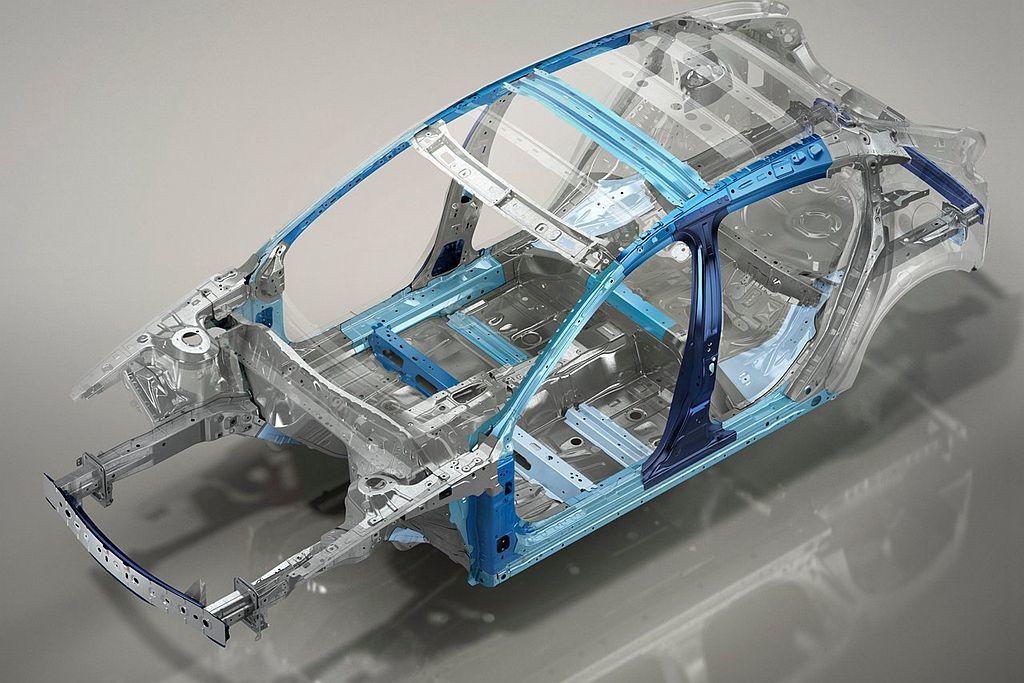 全新第四代Mazda3增加980MPa超高強度鋼使用比例,從過往的3%增加到30%。 圖/Mazda提供