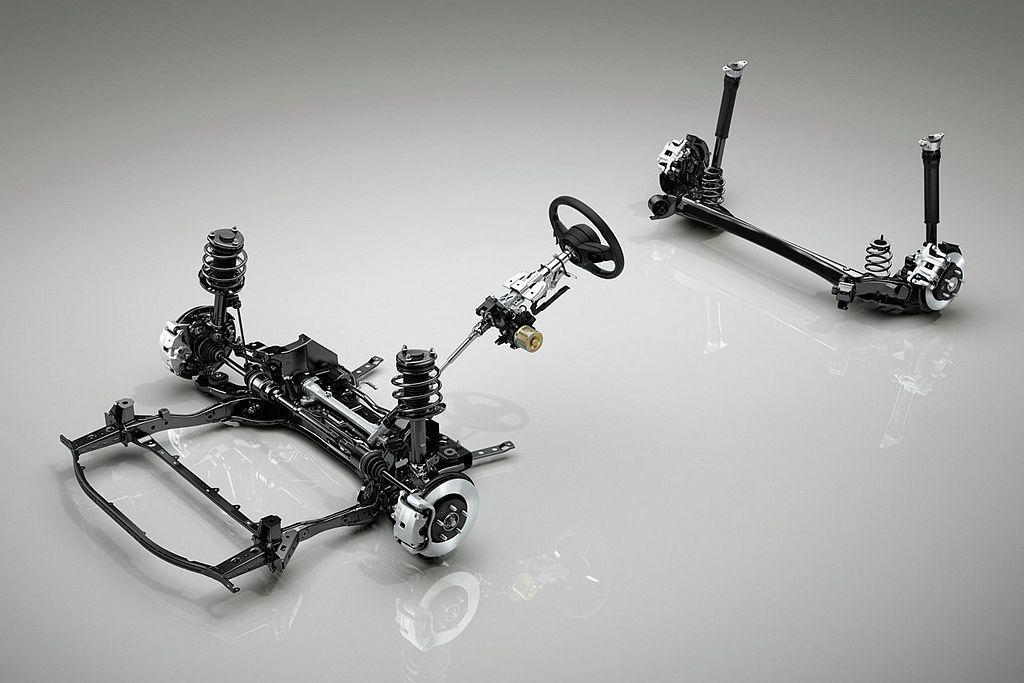 全新第四代Mazda3前懸吊系統採獨立麥花臣,後懸吊系統則從現行獨立多連桿改為扭力梁設定。 圖/Mazda提供