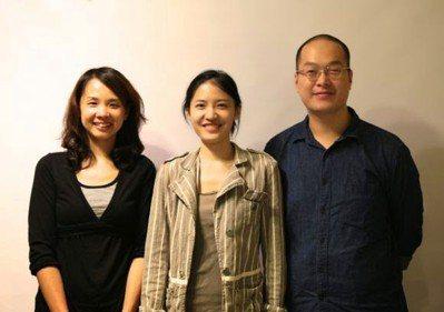 三明治工創辦人由左至右:曾韻潔、謝若琳以及李萬鏗。