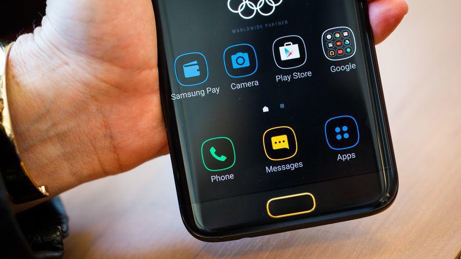 三星 Galaxy S7 Edge奧運限量版。圖截自cnet