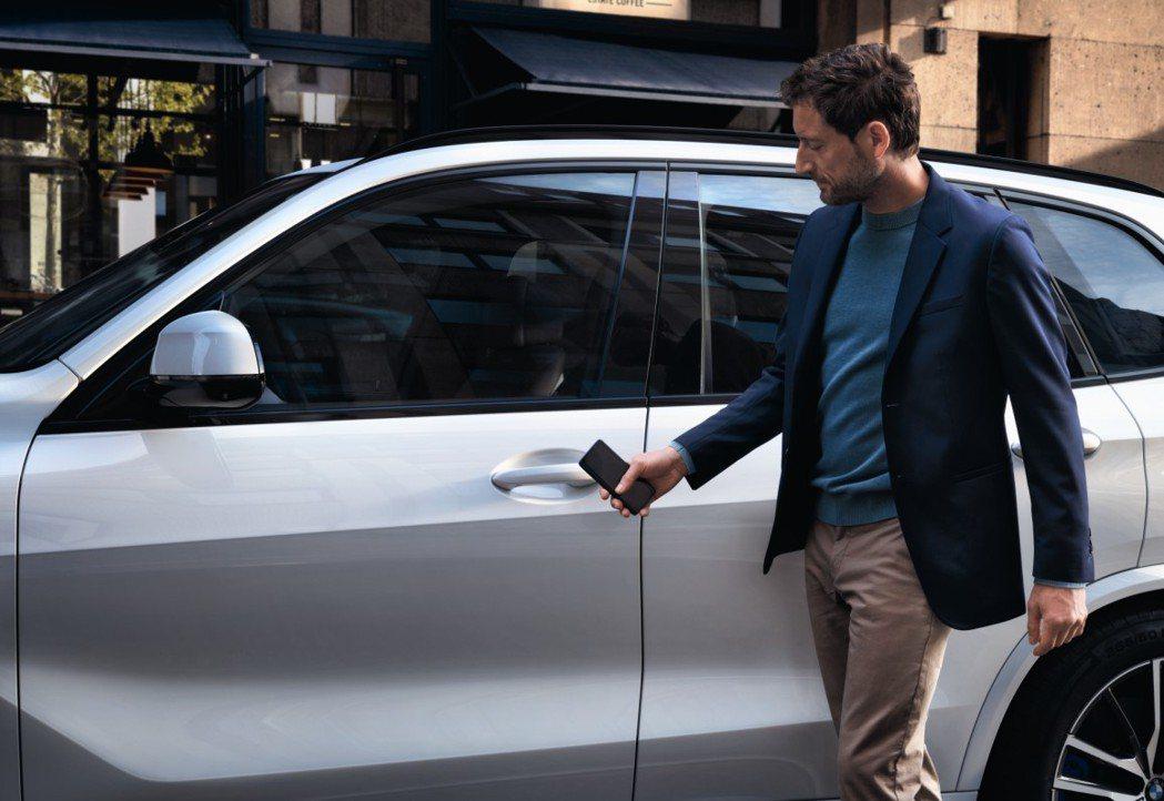 BMW Digital Key手機數位鑰匙將智慧手機搖身一變成為車鑰匙,最多可支...