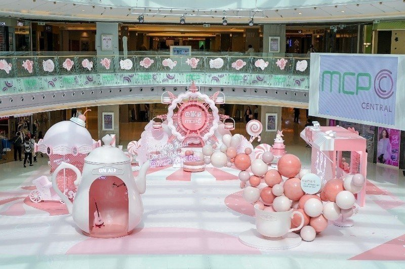 粉系甜蜜遊樂園 - MCP新都城中心。(圖:恒基兆業商場提供)