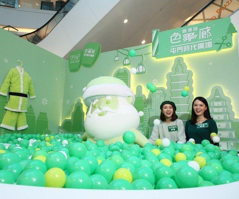 聖誕泡泡「趣」綠浴場 - 屯門時代廣場。(圖:恒基兆業商場提供)