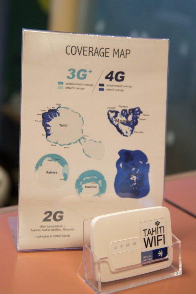 """覆蓋範圍,右下角的是波拉波拉島,整個島都有""""4G""""的網速 圖文來自於:TripP..."""