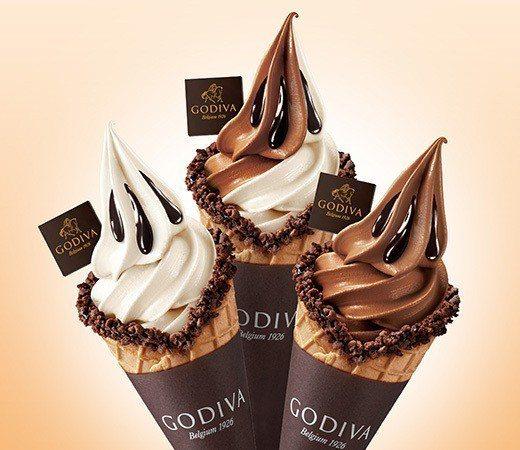 GODIVA巧克力霜淇淋,是巧克力控的夢幻商品。圖/擷取自GODIVA官網