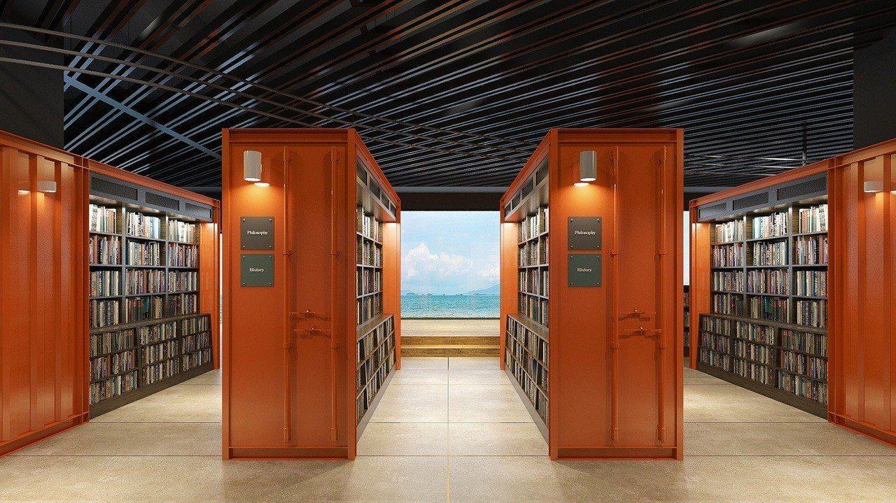 誠品生活台中三井店為全台唯一可觀海的誠品書店(此為3D示意圖)。圖/誠品提供