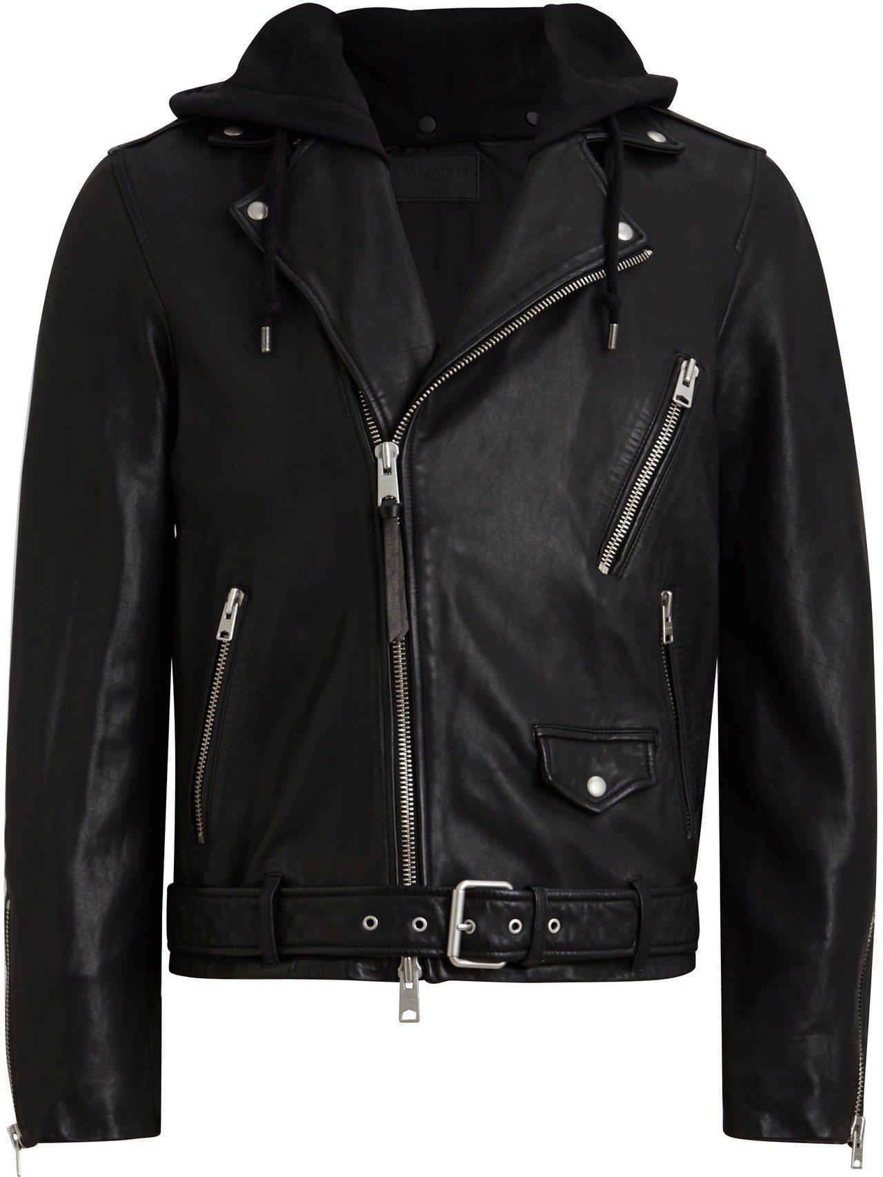 AllSaints Renzo連帽騎士夾克,21,500元。圖/AllSaint...