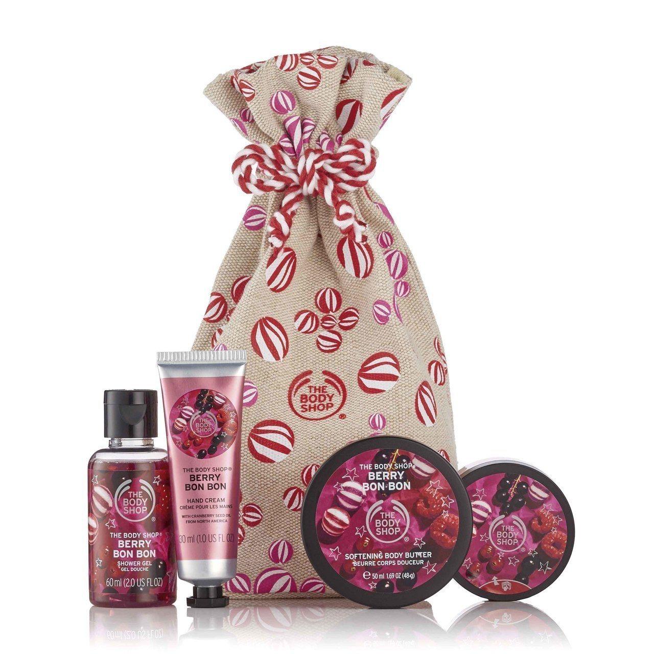 THE BODY SHOP莓果糖果麻袋禮盒,售價1,180元。圖/THE BOD...
