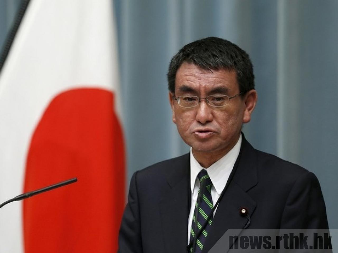日本外務大臣河野太郎指出,上月底台灣通過反對日本五縣食品解禁公投違反WTO規定,...