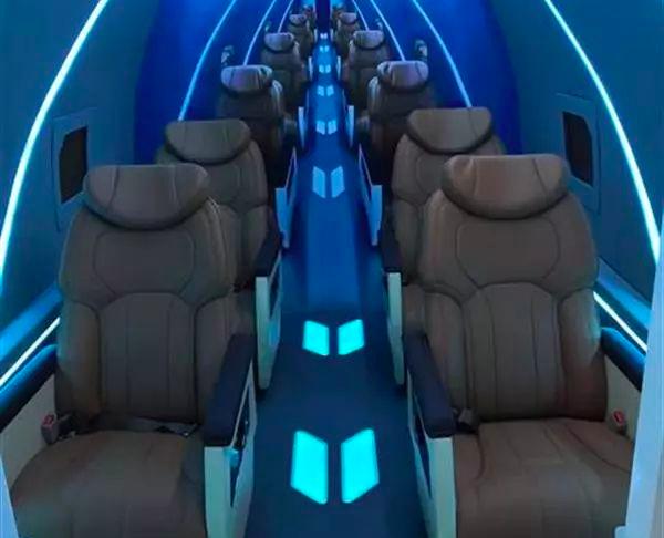 高速飛行列車的設計概念圖。 圖/翻攝自澎湃新聞「問政」河北共青團