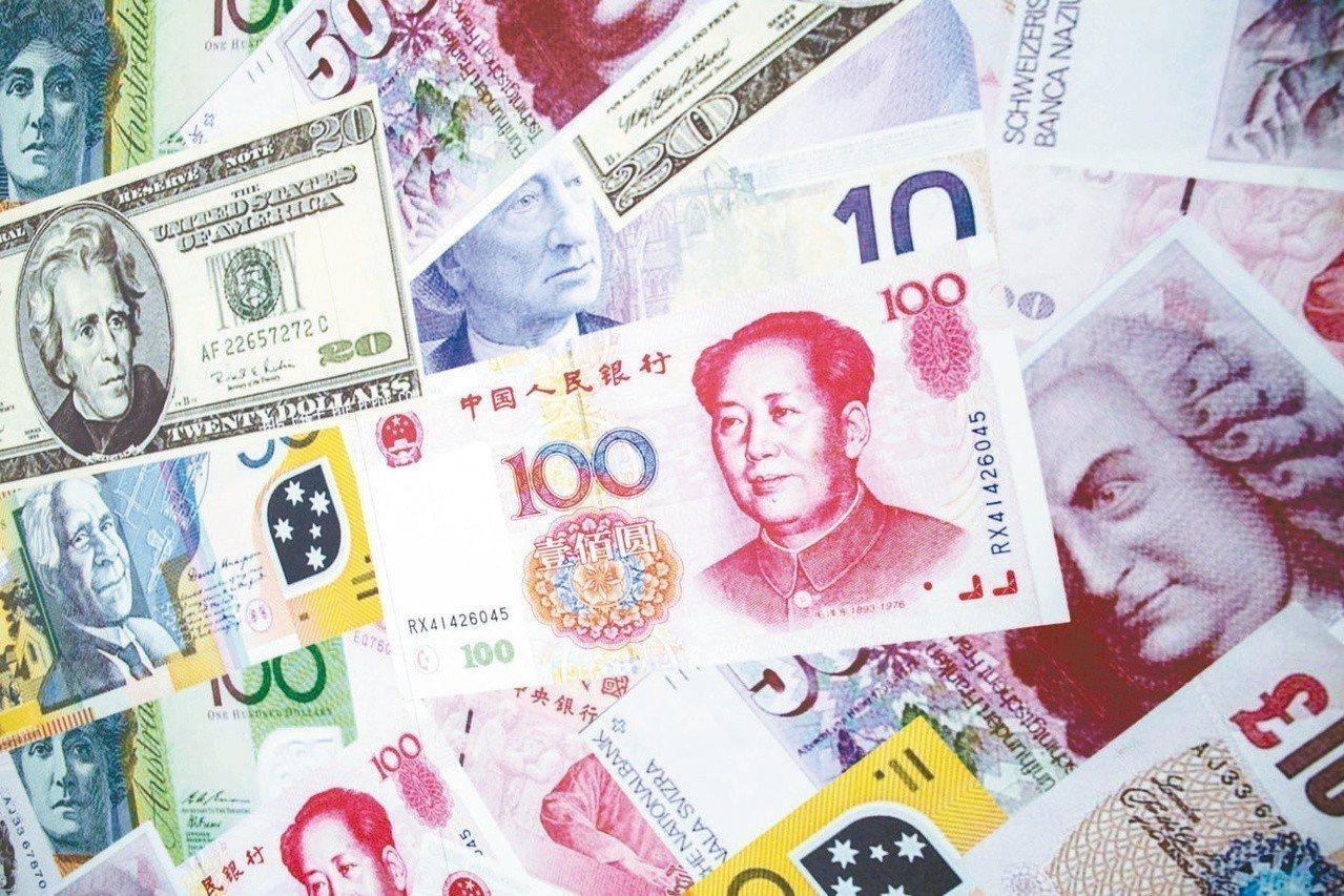人民幣。 報系資料照片
