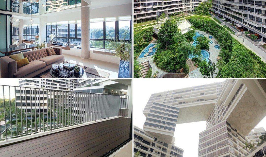 新加坡「翠城新景」(The Interlace)外型引人注目,圖為房屋內部景觀 ...