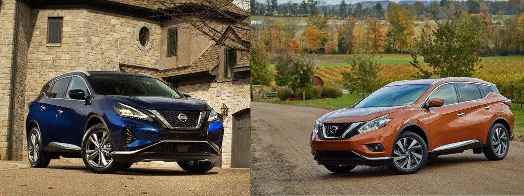 小改後(左)造型更加銳利與運動化,小改前(右)。 摘自Nissan