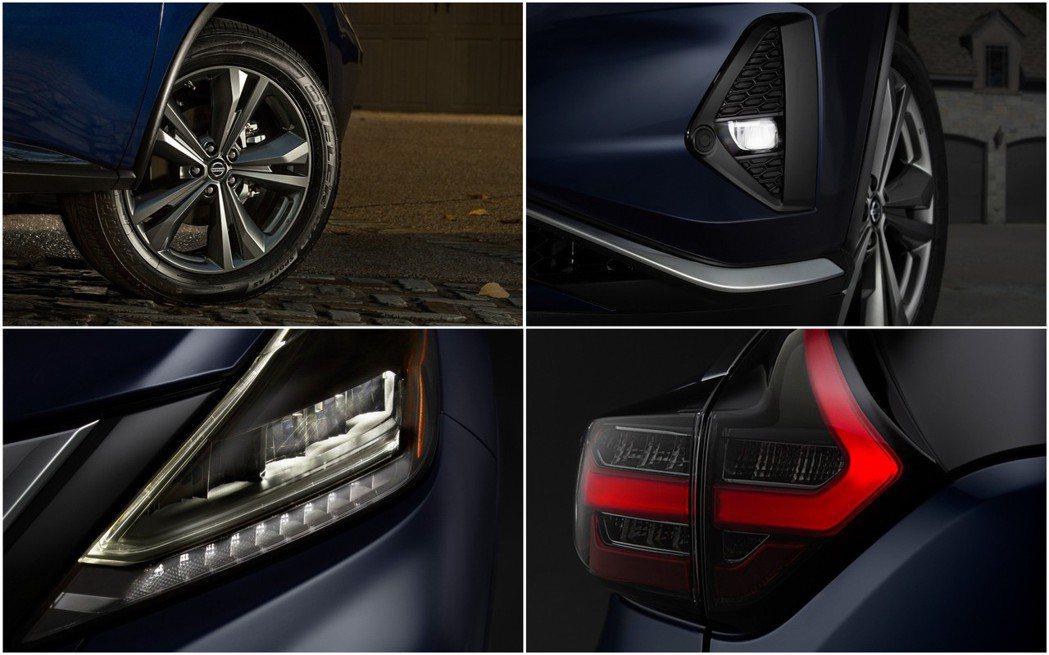 頭尾燈和霧燈都改為LED形式,並有全新設計的18、20吋鋁圈。 摘自Nissan