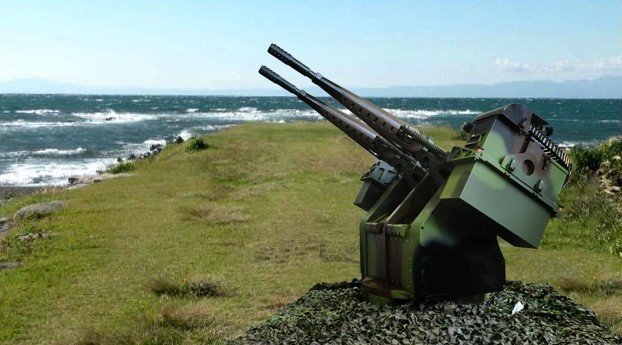 中科院自行研發的近程自動化防禦武器系統,依據本、外島作戰環境,設計有「岸置型及艦...