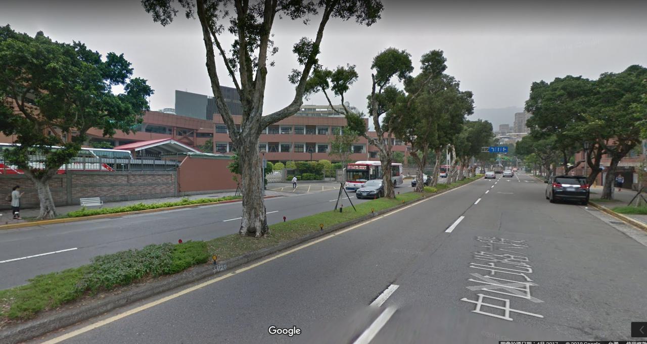 美國學校一帶。圖/取自Google Map