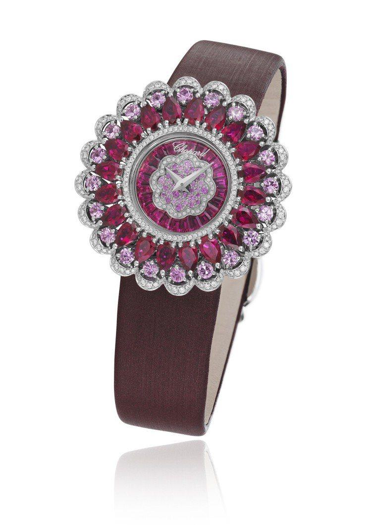 Precious Chopard系列腕表,18K白金表盤鑲嵌長方形切割總重1.1...