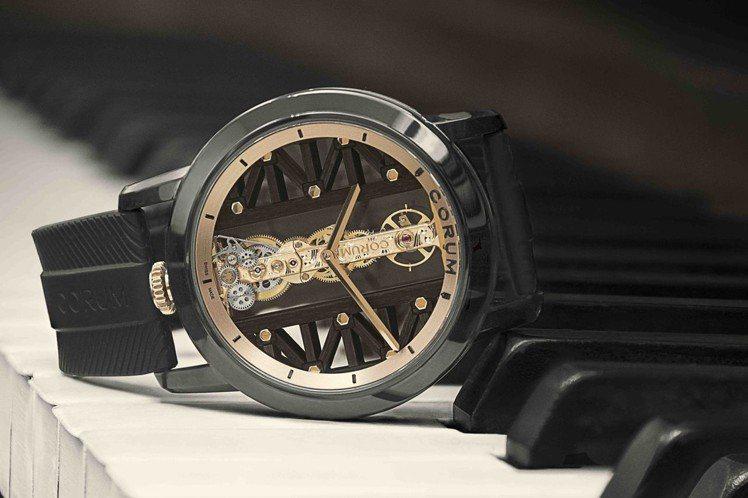 崑崙表DLC鈦金屬金橋腕表,43毫米玫瑰金與黑色DLC塗層鈦金屬,83萬4,00...
