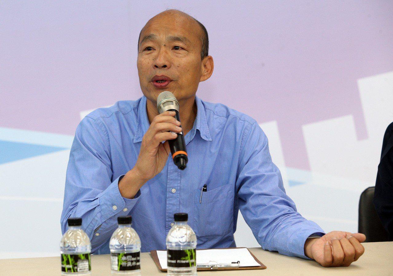 高市長當選人韓國瑜說,小內閣部分已經完成百分之五十。記者劉學聖/攝影