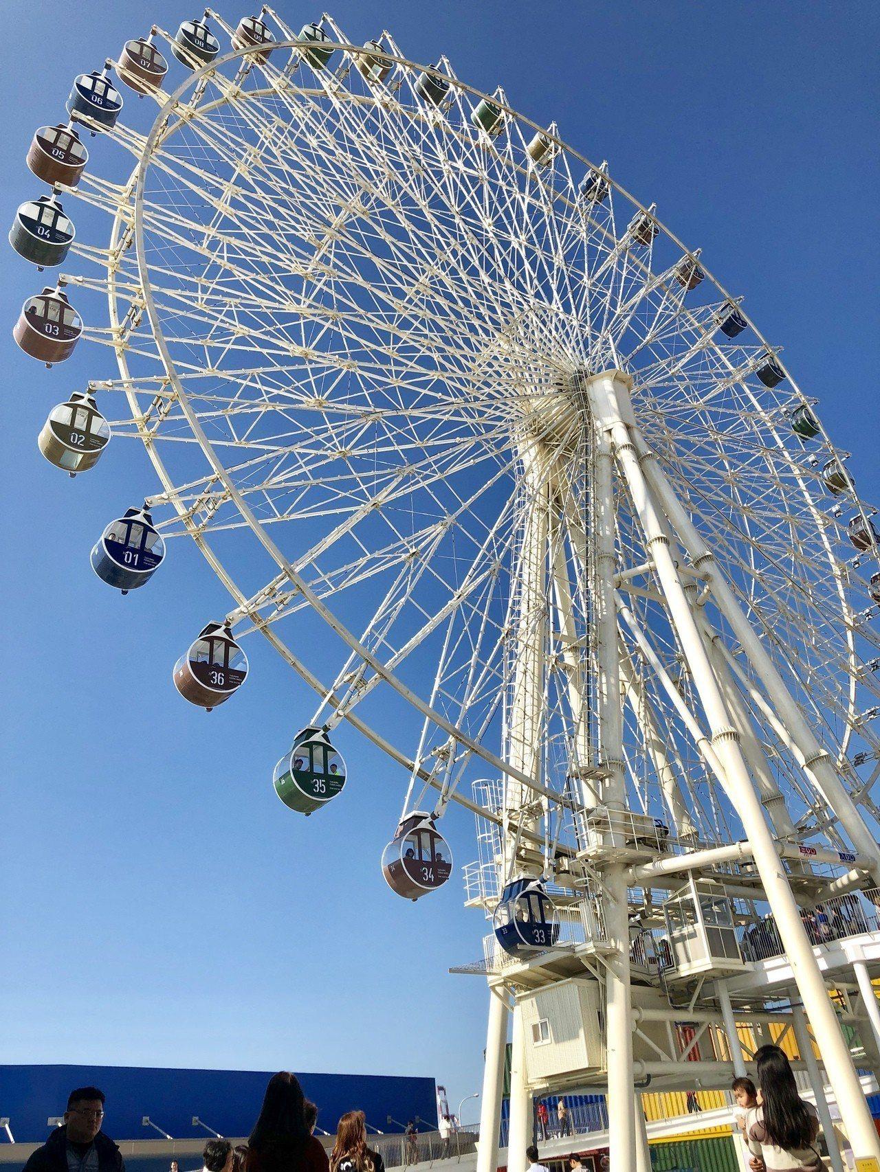 60米高的大型海港景觀摩天輪,可將海景美色盡收眼底。