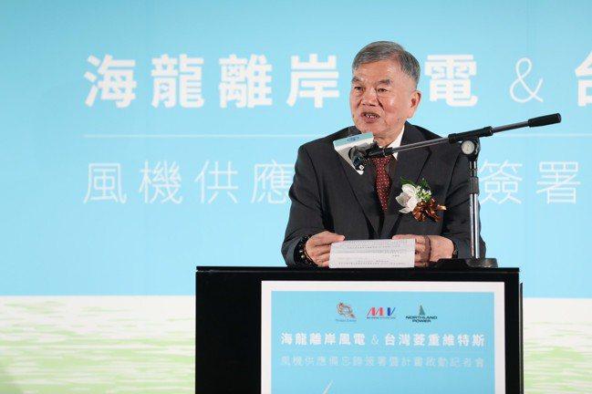 經濟部長沈榮津日前出席離岸風電相關記者會。 圖/海龍計畫提供