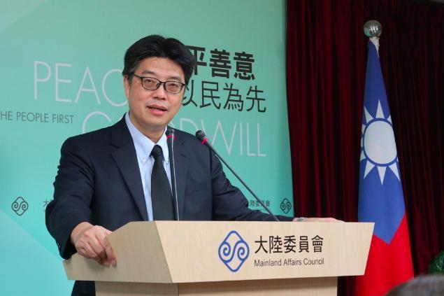 陸委會發言人邱垂正(圖)表示,陸委會在雙城論壇中是扮演協助者,而非參與者。 聯合...