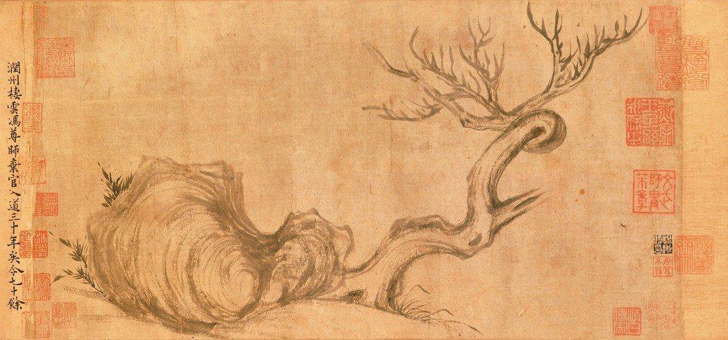 蘇東坡《木石圖》原畫有約千年歷史。 圖/佳士得提供
