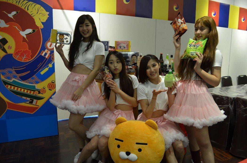 美少女為韓國商品行銷。  陳慧明 攝影