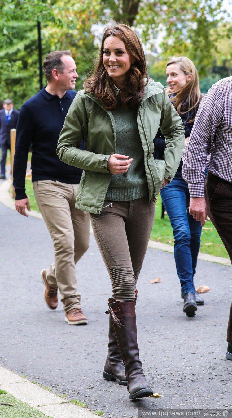 這雙Penelope Chilvers 長靴,凱特王妃穿了14年。圖/達志影像