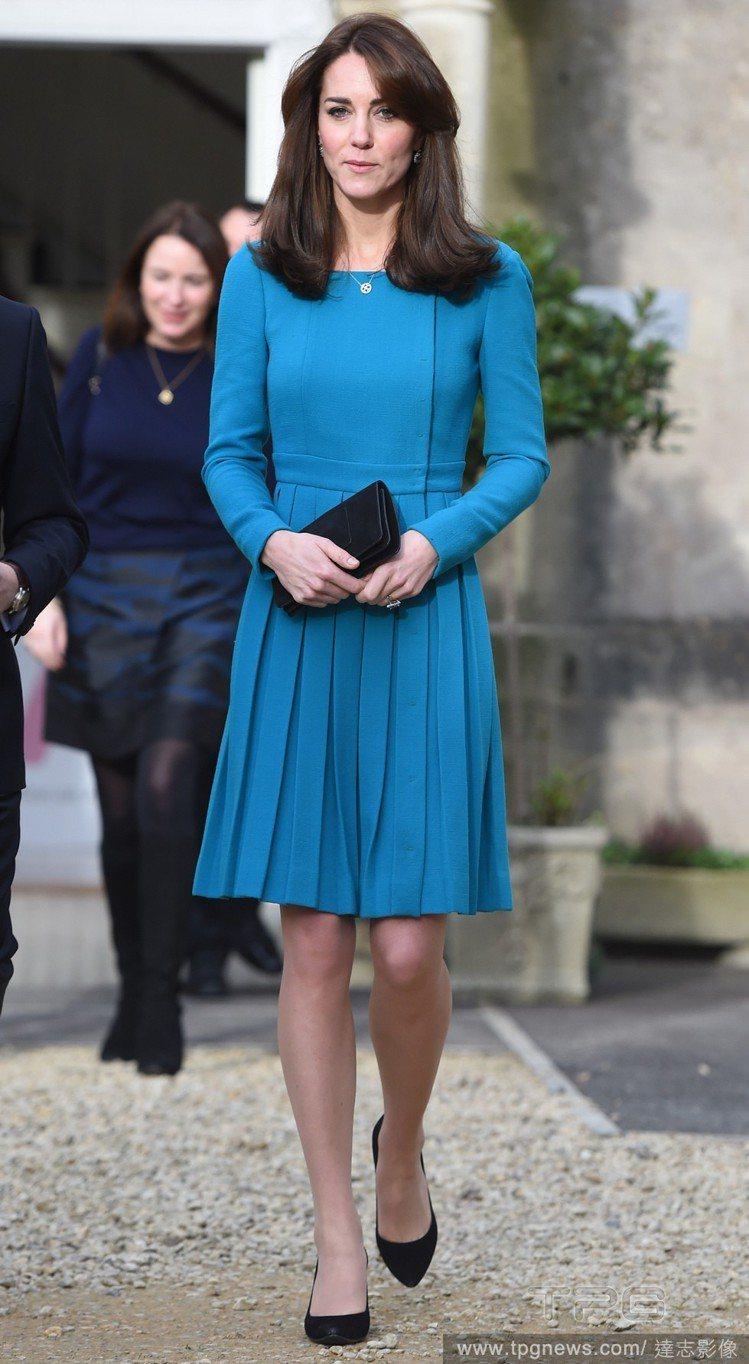 凱特王妃多次穿上Emilia Wickstead 洋裝出席活動。圖/達志影像