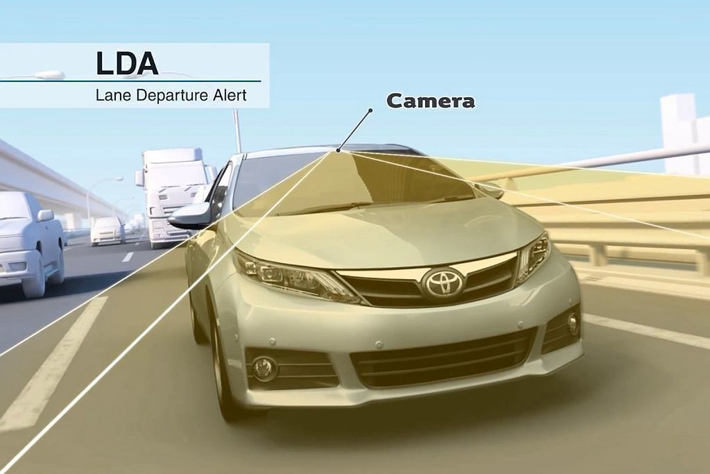 LDA車道偏離警示系統,可防止車輛衝出車道以減少對撞意外發生。 圖/Toyota...