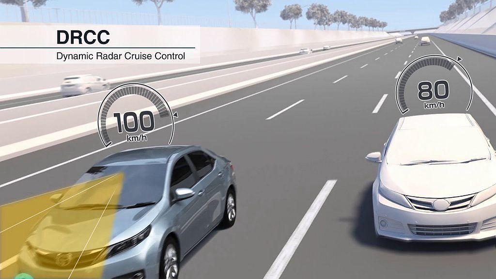 DRCC雷達感應式車距維持定速系統,可大幅提升中高速行駛時的行車安全。 圖/To...