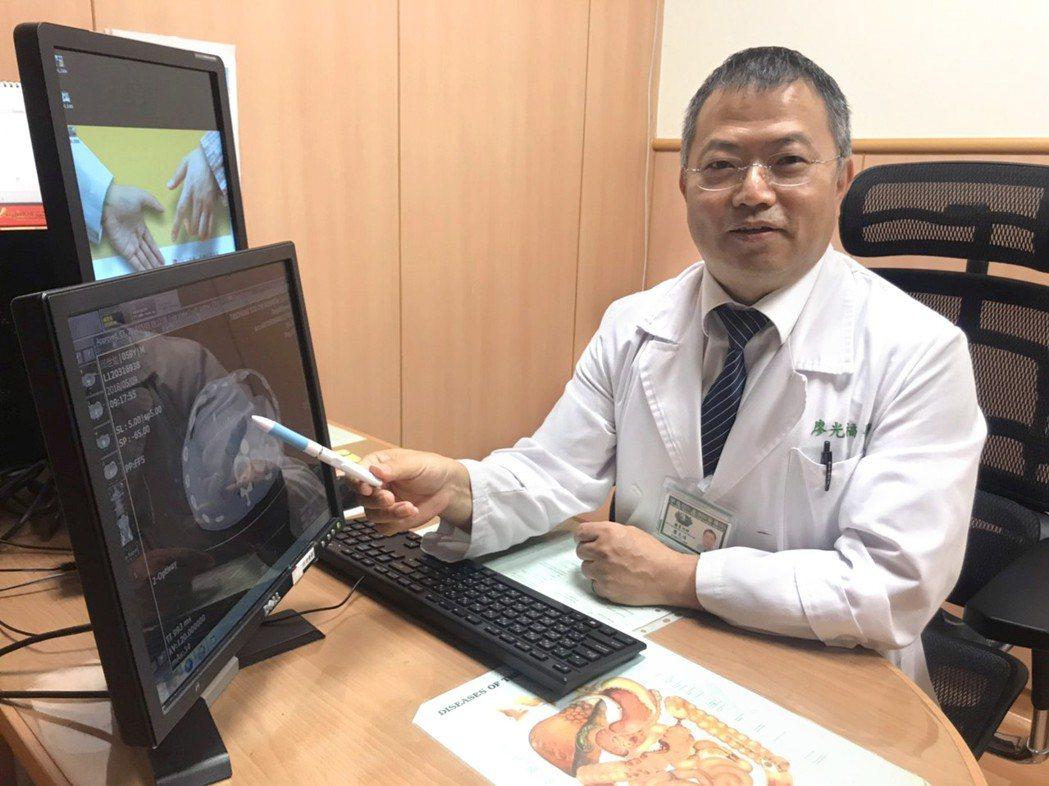 廖光福醫師提醒民眾,肝癌預防應從生活做起,才能及早發現、及早治療,爭取寶貴生命時...