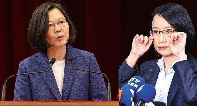 吳音寧(右)上任北農總經理後風波不斷,總統蔡英文(左)公開力挺。 圖/聯合報系資...