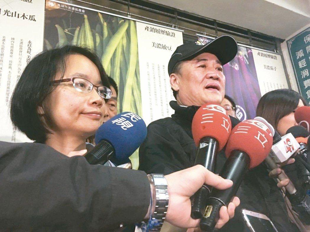 吳音寧(左)與前北農董事長陳景峻(右)。 圖/聯合報系資料照片