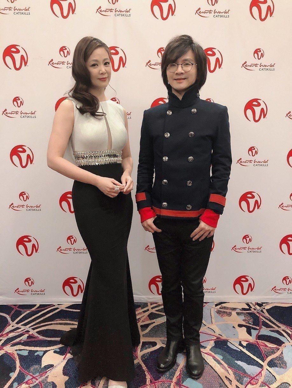 王馨平(左)與林隆璇赴美商演。圖/青田音樂提供