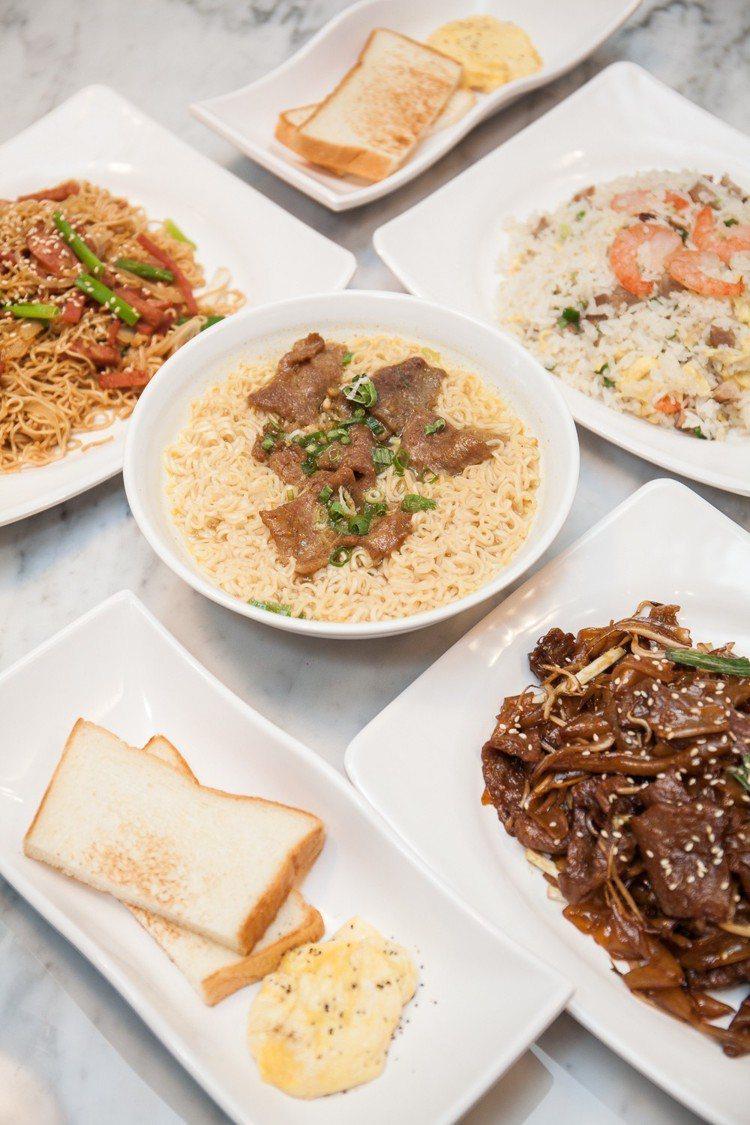 除了蛋撻外,還有許多其他茶餐廳經典料理可選擇。圖/泰昌餅家提供