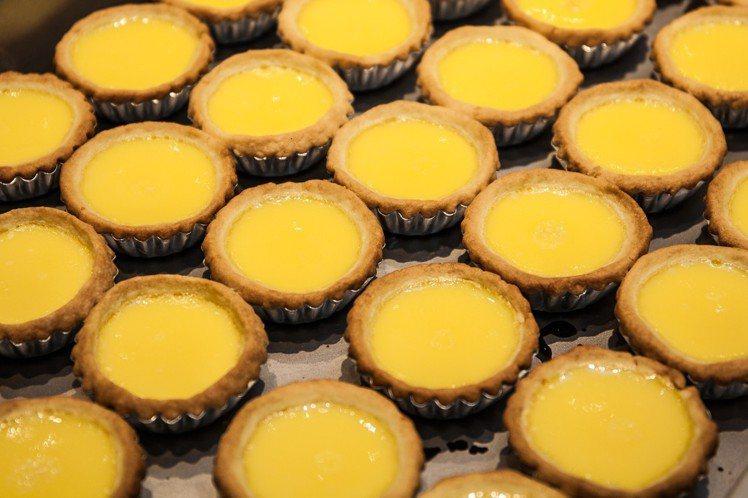 泰昌餅家的曲奇蛋撻是最長青熱銷商品。圖/泰昌餅家提供