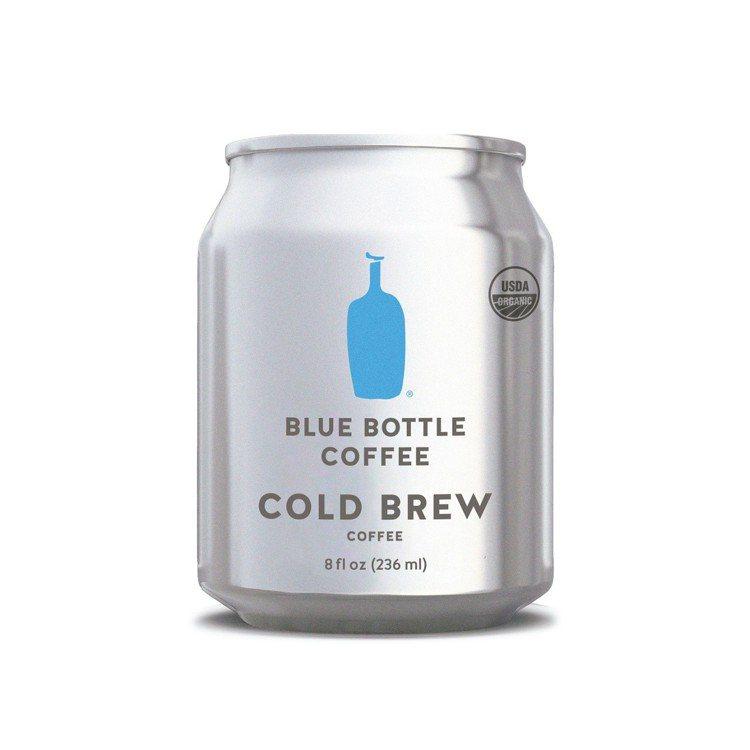 藍瓶罐裝冷萃有機咖啡。圖/微風提供