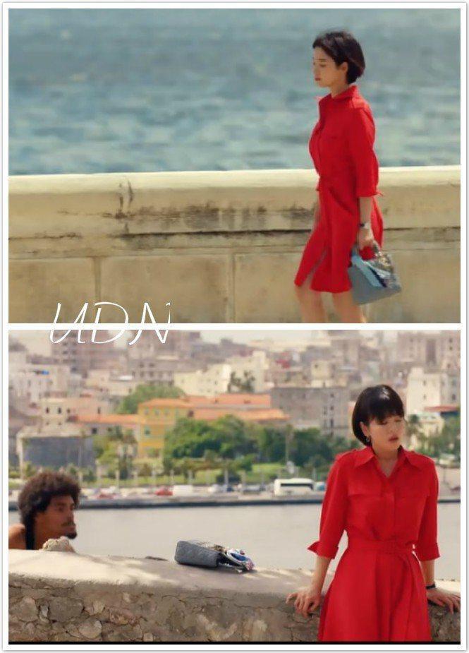 宋慧喬在濱海大道漫步時拎著Lady Dior包款,後來包包被偷,促成她與朴寶劍的...