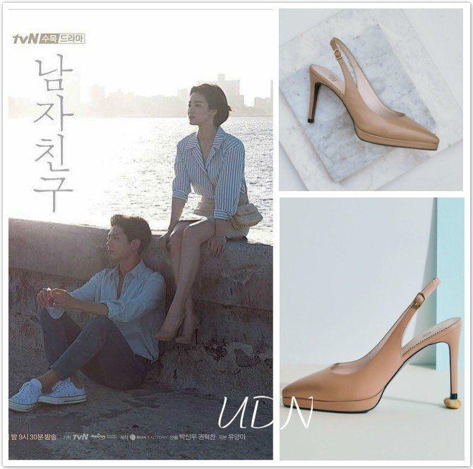 宋慧喬在拍攝海報時也是穿著Suecomma Bonnie鞋款。圖/皆取自IG