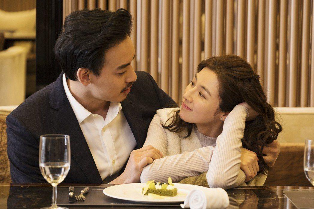 陳怡蓉(右)、黃柏鈞在「雙城故事」中感情不斷被挑戰。圖/青睞影視提供