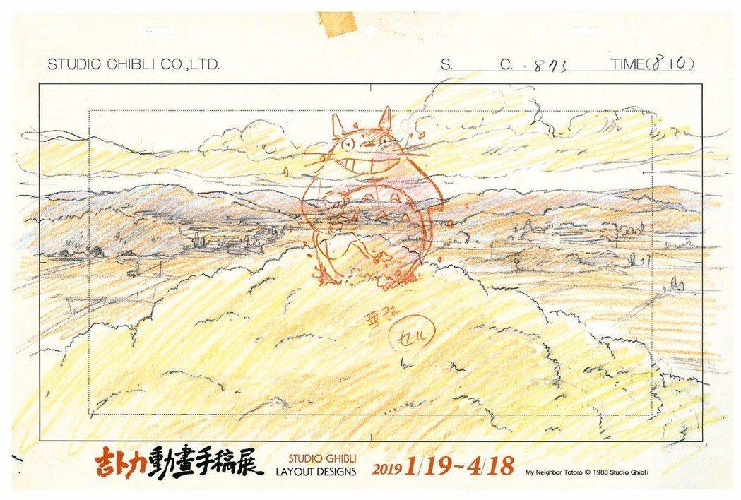 「吉卜力動畫手稿展」今起至15日預售期間,ibon推出購票即隨機贈送龍貓、魔法公...