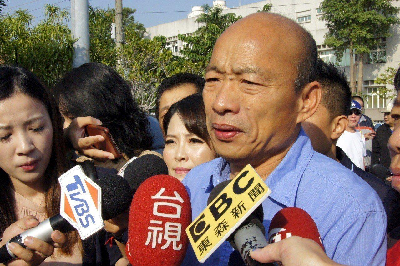 高雄市準市長韓國瑜。 記者林保光/攝影
